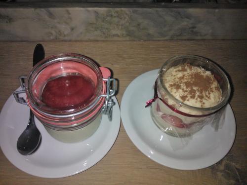Panna cotta e Crema di fragolla